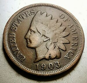 1903  INDIAN HEAD CENT     VG/F