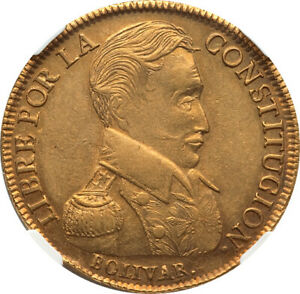 Click now to see the BUY IT NOW Price! BOLIVIA 1833 PTS LM REPUBLIC GOLD 8 SCUDOS NGC AU 58 HIGHEST GRADED