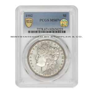 Click now to see the BUY IT NOW Price! 1902 $1 SILVER MORGAN PCGS MS67  PQ APPROVED PHILADELPHIA MINT DOLLAR GEM COIN