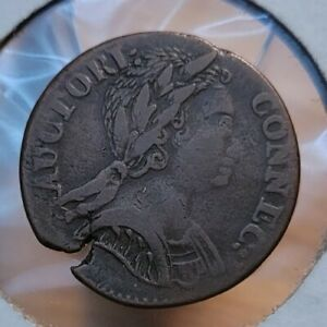 1785 CONNECTICUT COLONIAL COPPER COIN   OFF CENTER