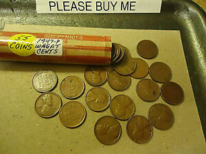 1947 P LINCOLN PENNY WHEAT ROLL      >> TRACKING INCLUDED <<
