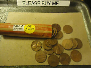 1962 D LINCOLN CENT ROLL      >> TRACKING INCLUDED <<