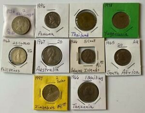 A LOT OF 10 DIFFERENT WORLD COINS LOT 2