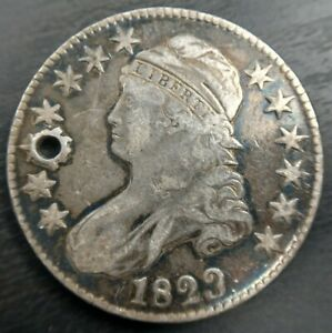 1823 PATCHED 3 CAPPED BUST HALF DOLLAR O 101A VF/EXTRA FINE OR XF DETAILS