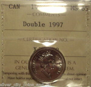 Click now to see the BUY IT NOW Price! CANADA ELIZABETH II 1997 DOUBLED 1997 FIVE CENTS   ICCS MS 65  XJK 770
