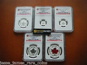 Click now to see the BUY IT NOW Price! 2015 REVERSE PROOF SILVER CANADA MAPLE LEAF NGC PF70 EARLY RELEASES 5 COIN SET