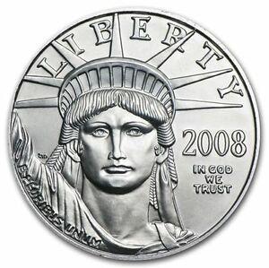 2008 1/10 OZ PLATINUM AMERICAN EAGLE   BRILLIANT UNCIRCULATED