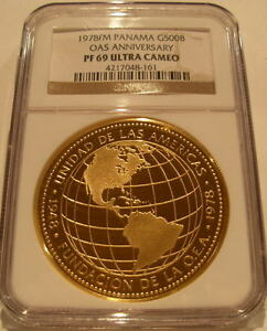 Click now to see the BUY IT NOW Price! PANAMA 1978FM GOLD 500 BALBOAS NGC PF69UC OAS ANNIVERSARY