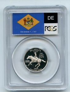 Click now to see the BUY IT NOW Price! 1999 S 25C SILVER DELAWARE QUARTER PCGS PR70DCAM