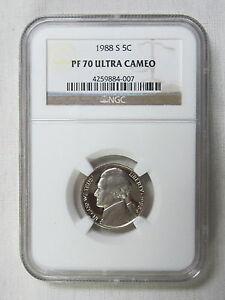 Click now to see the BUY IT NOW Price! 1988 S PROOF JEFFERSON NICKEL   NGC PF 70 ULTRA CAMEO