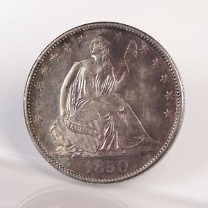 Click now to see the BUY IT NOW Price! RAW 1850 O SEATED LIBERTY 50C UNGRADED UNCERTIFIED NEW ORLEANS HALF DOLLAR COIN