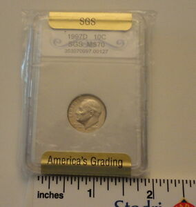 Click now to see the BUY IT NOW Price! 1997 D   10C   SGS GRADED    ROOSEVELT DIME