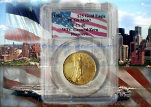 Click now to see the BUY IT NOW Price! WTC 1986 PCGS MS67 GROUND ZERO RECOVERY $25 DOLLAR GOLD EAGLE