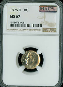 Click now to see the BUY IT NOW Price! 1976 D ROOSEVELT DIME NGC MAC MS67 PQ SPOTLESS KEY DATE LOW POP .