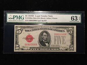 Click now to see the BUY IT NOW Price! 1928 D $5 FR.1529M MULE PMG UNC 63 EPQ UNITED STATES NOTE RED SEAL  FINEST KNOWN