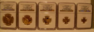 Click now to see the BUY IT NOW Price! SINGAPORE 1987 FULL PROOF GOLD 1.9 OZ SET NGC PF 66/69/68/68/69UC RABBIT