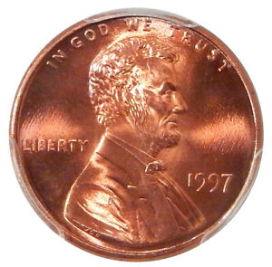 Click now to see the BUY IT NOW Price! 1997 DBL EAR 1C PCGS MS 68 RED FS 101   POP 1 LINCOLN CENT VARIETY