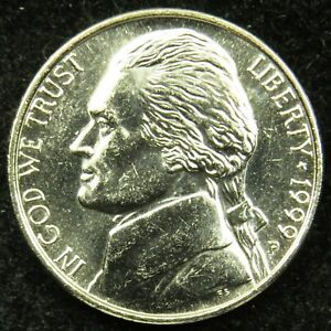 1999 P UNCIRCULATED JEFFERSON NICKEL BU  B03