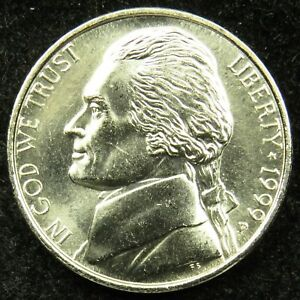 1999 P UNCIRCULATED JEFFERSON NICKEL BU  B02