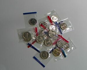 1980 1981 PD AND 1984 1989 PD JEFFERSON NICKEL BU RUN MINT CELLO SET 16 US COINS