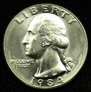 1984 D UNCIRCULATED WASHINGTON QUARTER BU  B06