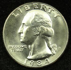 1984 D UNCIRCULATED WASHINGTON QUARTER  B05