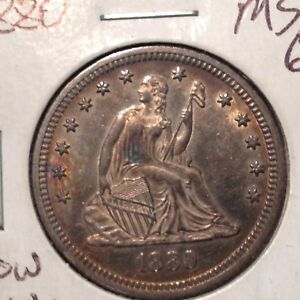 1880    BU   LIBERTY SEATED QUARTER    LOW MINTAGE    DATE