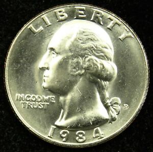 1984 D UNCIRCULATED WASHINGTON QUARTER BU  B03