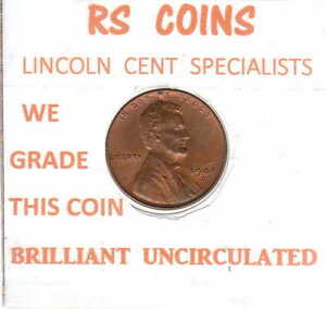 1941 D  LINCOLN  CENT   BRILLIANT UNC   PRICED TOO LOW   & MAKE AN OFFER   5315