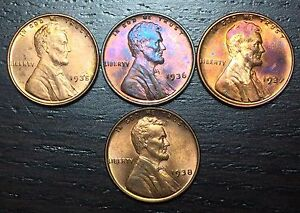 1935 1936 1937 1938 LINCOLN CENT WHEAT PENNY      MAKE US AN OFFER   Y8331