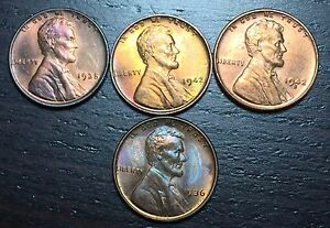 1936 1935 1942 1942 S LINCOLN CENT WHEAT PENNY      MAKE US AN OFFER   Y8329