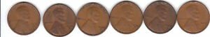 1930S  1935S  1936S  1937S  1938S  1939S  LINCOLN CENT SET   RS COINS/MAKE OFFER