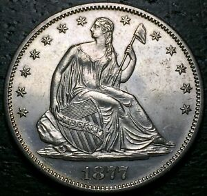 1877 S SEATED LIBERTY HALF DOLLAR      MAKE US AN OFFER   Y8713