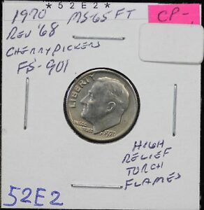 1970 ROOSEVELT DIME MS REVERSE OF '68 CHERRYPICKERS FS 901