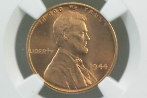 1944 WHEAT CENT NGC MS 66