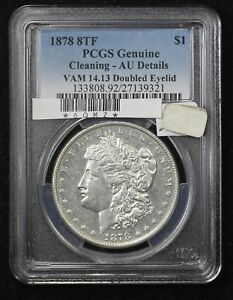 Click now to see the BUY IT NOW Price! 1878 MORGAN DOLLAR PCGS AU 50 8 TAIL FEATHERS VAM 14.13 DOUBLED EYELID