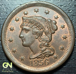 1856 BRAIDED HAIR LARGE CENT     MAKE US AN OFFER   Y6881