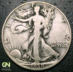 1938 D WALKING LIBERTY HALF DOLLAR     MAKE US AN OFFER   Y6829