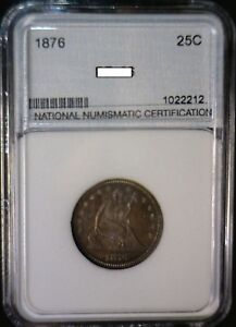 1876 GEM PROOF SEATED QUARTER US COIN SHARP  LOW MINTAGE BICENTENNIAL YEAR