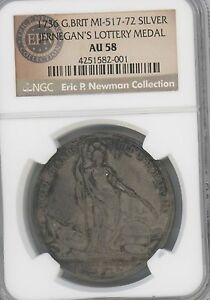 Click now to see the BUY IT NOW Price! 1736 JERNEGAN'S CISTERN MEDAL BETTS 169  GRADED AU58 BY NGC