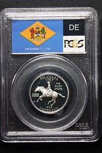 Click now to see the BUY IT NOW Price! 1999 S QUARTER PCGS PR70DCAM SILVER DELAWARE STATE QUARTER KING OF THE SERIES