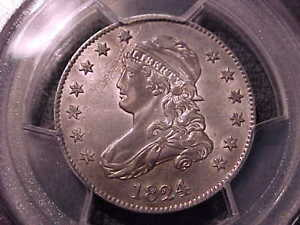 Click now to see the BUY IT NOW Price! 1824/2 OVERDATE  PCGS GENUINE  CAPPED BUST QUARTER   AU 55 DETAIL   DATE