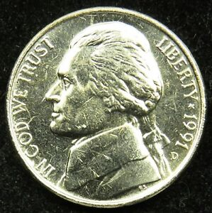 1991 D UNCIRCULATED JEFFERSON NICKEL BU  B01