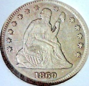 1869S SEATED LIBERTY QUARTER KEY DATE