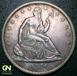 1871 S SEATED LIBERTY HALF DOLLAR      MAKE US AN OFFER   Y6861