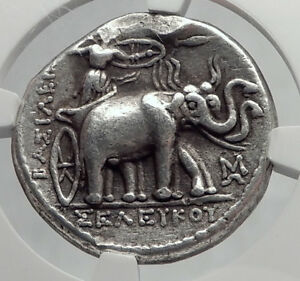 Click now to see the BUY IT NOW Price! SELEUKOS I SELEUKID TETRADRACHM NGC CERTIFIED ELEPHANTS SILVER GREEK COIN I64228