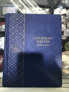 Click now to see the BUY IT NOW Price! CANADIAN HALVES HALF DOLLARS 1870 1936 WHITMAN BOOK  MISSING COINS