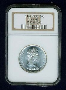 Click now to see the BUY IT NOW Price! CANADA  ELIZABETH II  1965 50 CENTS COIN NGC CERTIFIED GEM UNCIRCULATED MS 65