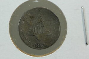 1853 3 CENT SILVER TRIME DIGS