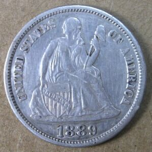 10C 1889 S LIBERTY SEATED DIME XF DETAILS   AVENUECOIN